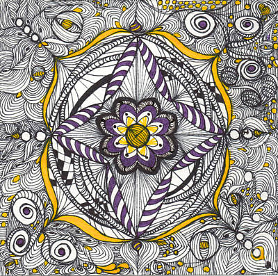 Drawing - Whimsical Shield by Anita Lewis