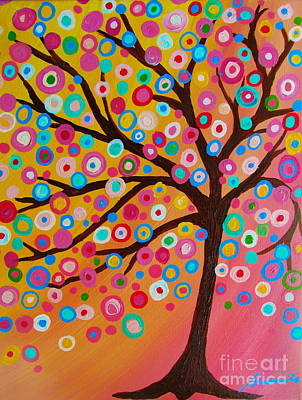 Mexican Town Painting - Whimsical Tree Of Life by Pristine Cartera Turkus