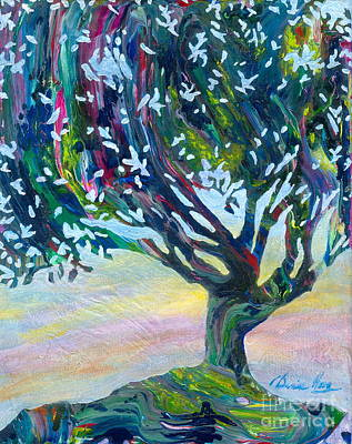 Painting - Whimsical Tree Pastel Sky by Denise Hoag
