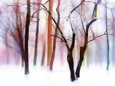 Snowed Trees Digital Art - Whimsical Winter by Jessica Jenney