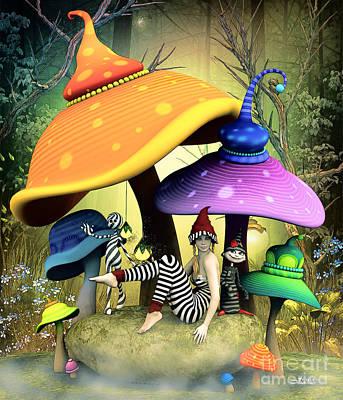 Digital Art - Whimsical Wonderland by Jutta Maria Pusl