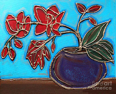 Painting - Whimsy Red Orchid by Cynthia Snyder