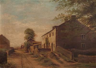 Whins Lane, Simonstone Art Print by English School