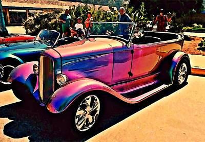 Open-rim Photograph - Rainbow Roadster by Stanley  Funk