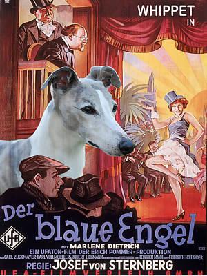 Whippet Art - Der Blaue Engel Movie Poster Original by Sandra Sij