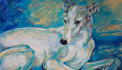 Whippet-effects Of Gravity 4 Art Print by Derrick Higgins