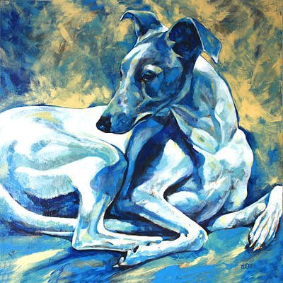 Whippet-effects Of Gravity 5 Print by Derrick Higgins