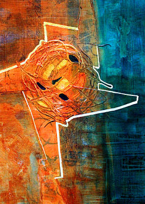 Abstract Movement Mixed Media - Whirl by Nancy Merkle