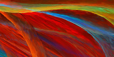 Abstract Fields Digital Art - Whirled Colors by Lourry Legarde