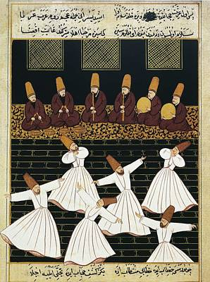 Whirling Dervishes 16th C.. Ottoman Art Print by Everett