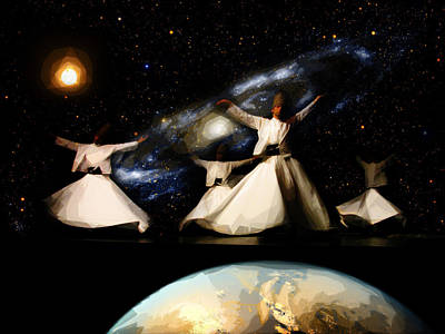 Turkish Painting - Whirling Universe by Celestial Images