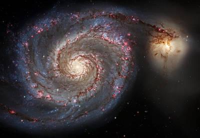 Whirlpool Galaxy 2 Art Print by Jennifer Rondinelli Reilly - Fine Art Photography