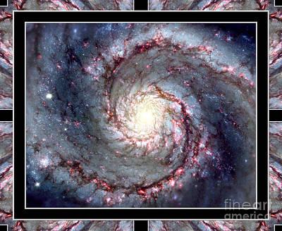 Whirlpool Galaxy Self Framed Art Print by Rose Santuci-Sofranko