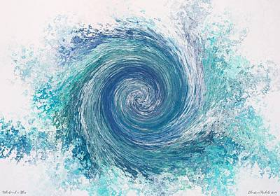 Whirlwind In Blue Art Print