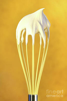 Blend Photograph - Whisk With Whip Cream On Top by Sandra Cunningham