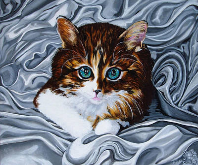 Jimerson Painting - Whiskers The Cat by Annette Jimerson