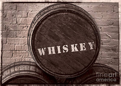Photograph - Whiskey Barrel by Phil Cardamone
