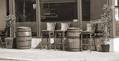 Whiskey Barrel Photograph - Whiskey Barrels by Betsy Knapp