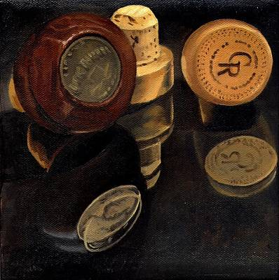 Painting - Whiskey Corks by Rick Liebenow