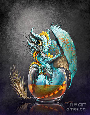 Whiskey Dragon Art Print
