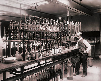 Laboratory Photograph - Whiskey Test Lab  1914 by Daniel Hagerman