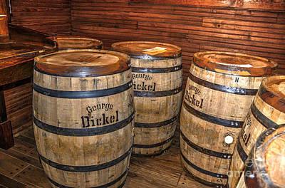 Whisky Barrels Art Print