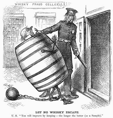 Chain-ring Painting - Whisky Ring Cartoon, 1876 by Granger