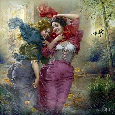 Vintage Painting - Whispered Pasts by Laura Botsford