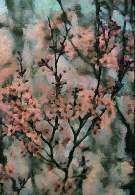 Whispering Cherry Blossoms Art Print by Janice MacLellan