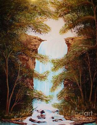 Painting - Whispering Falls by Tim Townsend