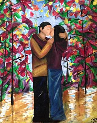 Painting - Whispering Kiss by D August