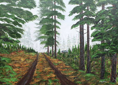 Painting - Whispering Pines by Jack G  Brauer