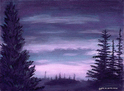 Pastel - Whispering Pines by Michael Heikkinen