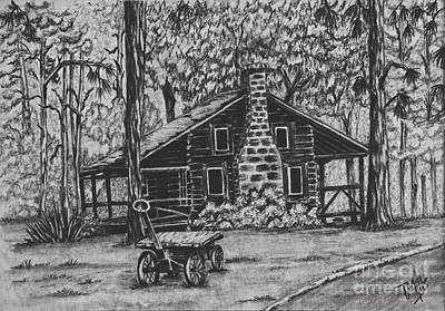 Drawing - Whispering Pines by Terri Mills