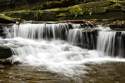 Waterfall Photograph - Whispering Waterfall Landscape by Christina Rollo