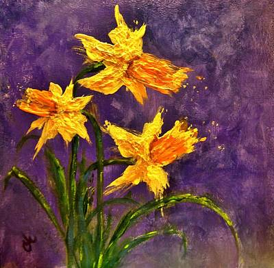 Daffodils Painting - Whispers Of Spring.. by Cristina Mihailescu