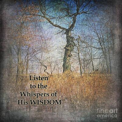 Whispers Of Wisdom Art Print by Pamela Baker