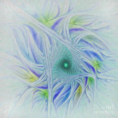 Generative Digital Art - Whispy Willow by Deborah Benoit
