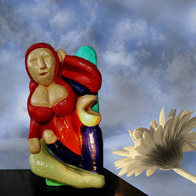 Sculpture - Whistle Blower by Barbara St Jean