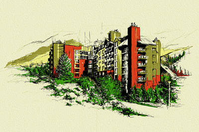 Vancouver Sketch Painting - Whistler Art 004 by Catf