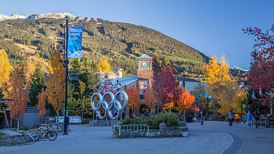 Whistler Olympic Plaza In Autumn Art Print