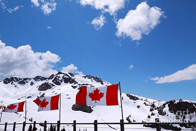 Photograph - Whistler Peak by Charline Xia