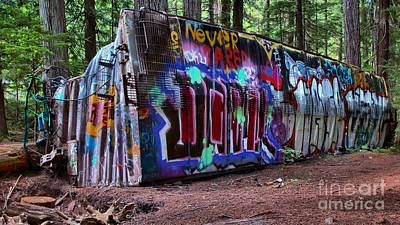 Photograph - Whistler Train Wreck Box Car by Adam Jewell