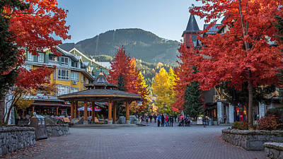 Blackcomb Photograph - Whistler Village Stroll On A Beautiful Autumn Day by Pierre Leclerc Photography