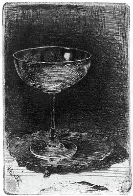Glass Etching Painting - Whistler Wine Glass by Granger