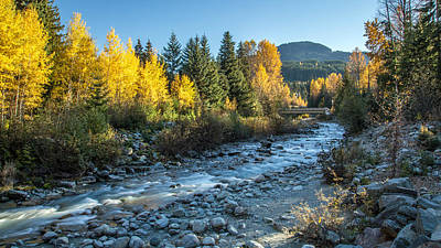 Grimm Fairy Tales - Whistlers Fitzsimmons Creek in Autumn by Pierre Leclerc Photography