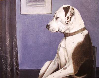 Art Print featuring the painting Whistler's Mutt-er by Laura Aceto