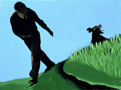 Command Painting - Whistling Him Back, 1997 by Marjorie Weiss