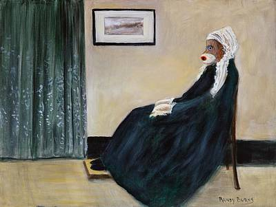 Art Print featuring the painting Whistlin Mother by Randol Burns