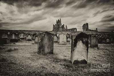 Whitby Abbey Photograph - Whitby Abbey  by Rob Hawkins